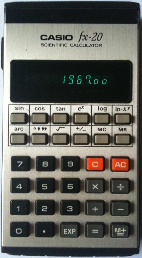 CASIO fx-20 - Ordinateurs de poche & Calculatrices Casio - PB FX CFX- Pockets : CASIO fx-20 ...