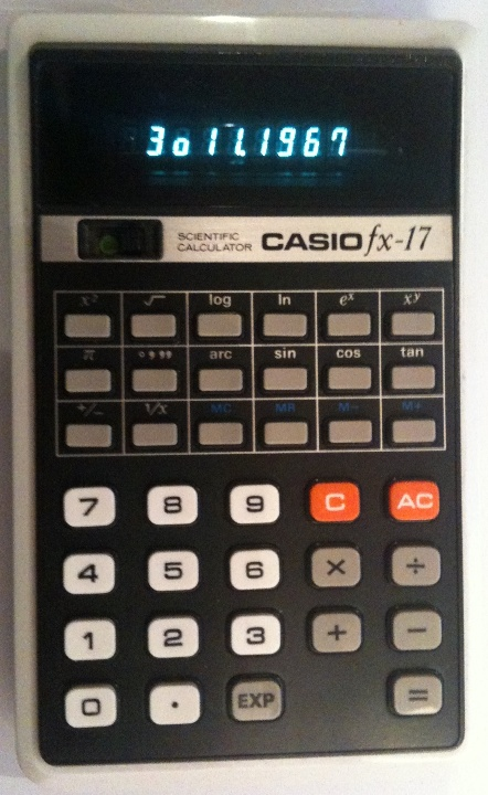 Casio fx 17 Vintage calculator Casio fx17 Casio.ledudu  5I4az