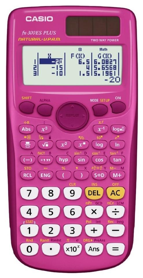 casio fx 300es plus pink ordinateurs de poche. Black Bedroom Furniture Sets. Home Design Ideas
