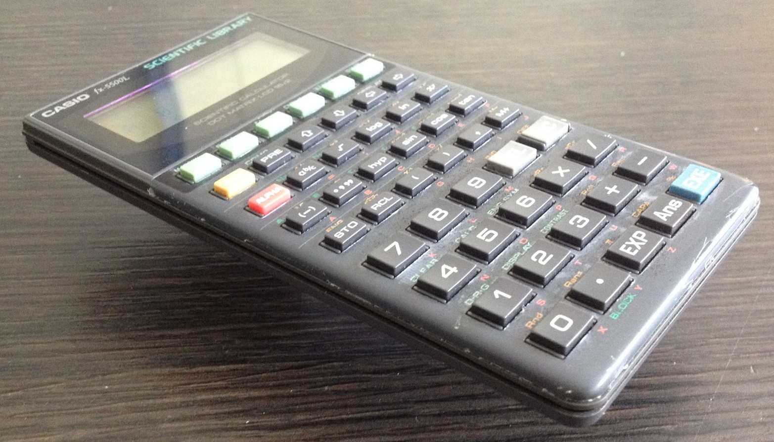 "Casio fx-5500 scientific calculator: the 1st ""c. A. S. "" pocket."