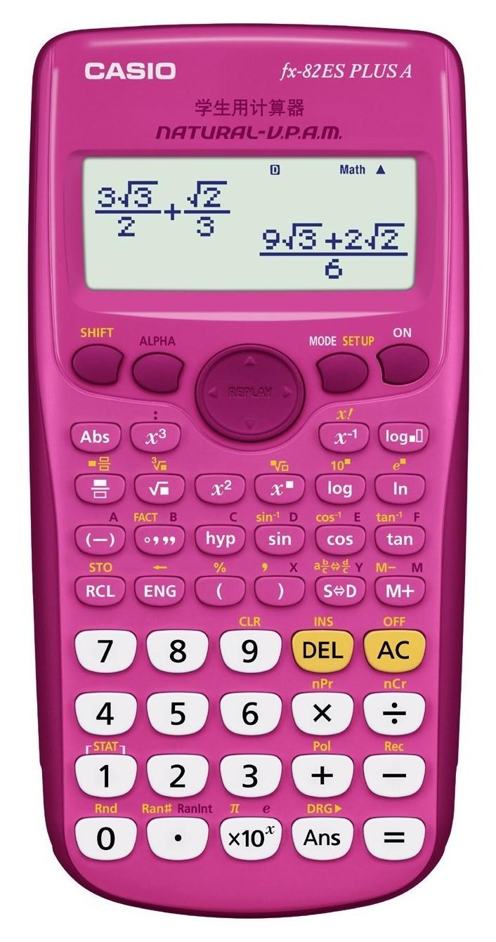 casio fx 82es plus a pink ordinateurs de poche. Black Bedroom Furniture Sets. Home Design Ideas
