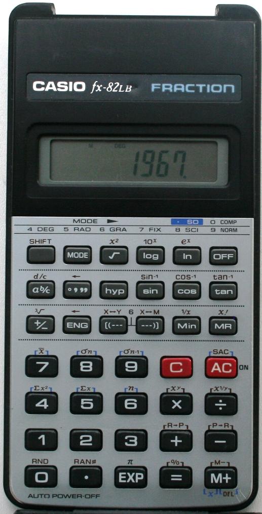 Calculadora casio fx-95 equation