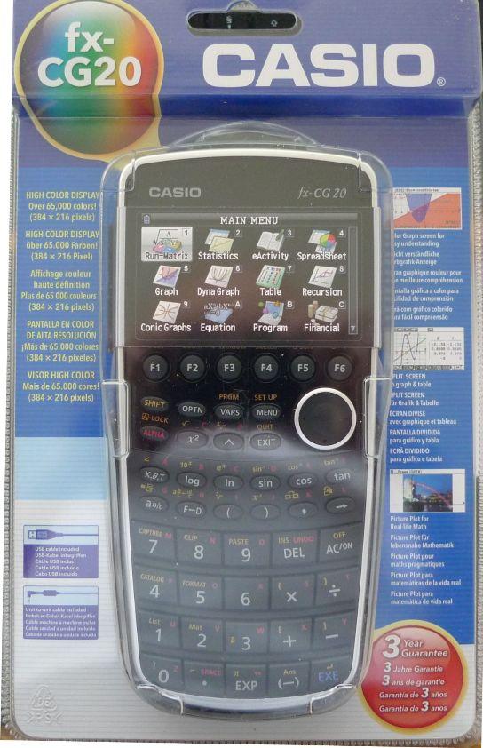 casio fx cg20 prizm casio pocket computers calculators. Black Bedroom Furniture Sets. Home Design Ideas