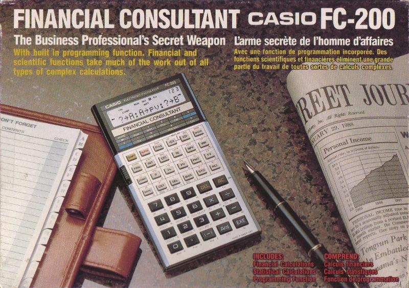 Fc-200v | financial models | school & lab. | calculators | casio.
